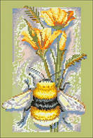 Картина для вышивки нитками размер А4 Символ возрождения и трудолюбия Ркан 4019