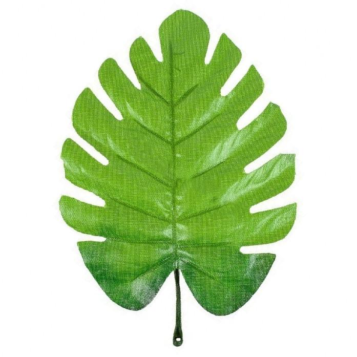Лист монстери зелений з петелькою 16 см (20 шт в уп)