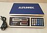 Рыночные электронные торговые весы со счетчиком цены на 50кг ALFASONIC AS-A072 . Ровная платформа, фото 2