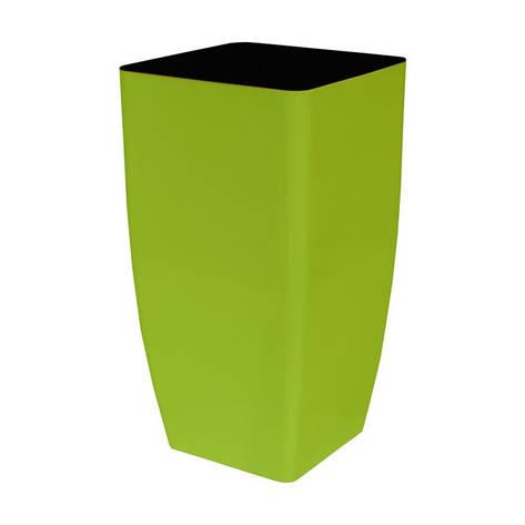 Вазон Кашпо Квадро 22*22*41,5 см оливковый объем  7 л, фото 2
