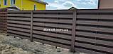 Штахетник з ДПК 100х10х3000 мм Браш/Браш графіт, фото 3