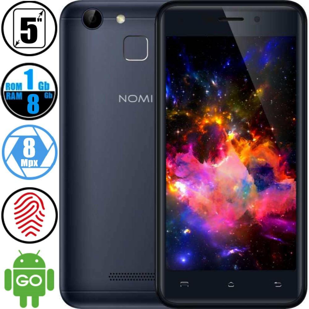 Смартфон Nomi I5014 (1/8Gb) Grey - Со Сканером Отпечатков