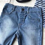Летний джинсовый  костюм на мальчика 174. Размер  3 года,  4 года, фото 2