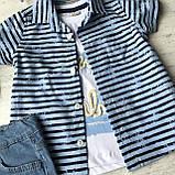 Летний джинсовый  костюм на мальчика 174. Размер  3 года,  4 года, фото 3