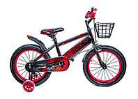 +Подарок Детский велосипед 16 дюймов Красно Черный T13, Ручной и Дисковый Тормоз