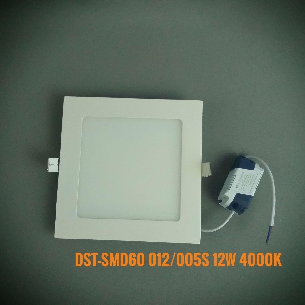 Світлодіодна панель квадрат врізний DST-SMD60/012/005S NW 4000K 12W