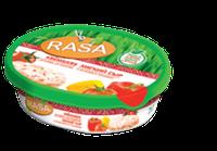 Мягкий сливочный сыр с паприкой и томатами Rasa  62% 180 гр