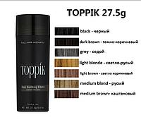 Загуститель для волос Toppik Hair Building Fibers пудра редких волос
