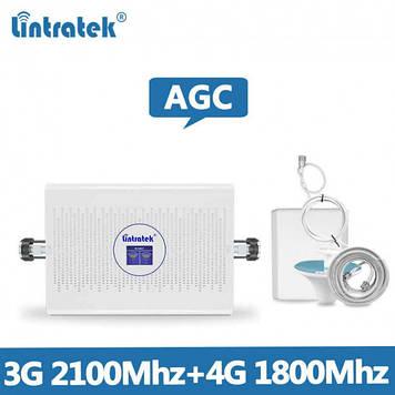 Усилитель сотового мобильного сигнала Lintratek KW23C-DW 1800/2100 МГц