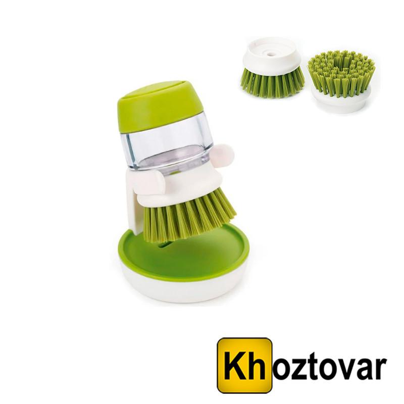 Щітка з дозатором миючого засобу Palm Scrub