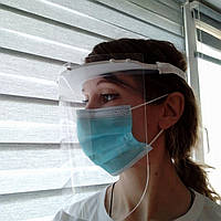 Медицинский щиток для лица. Экран многоразового использования, толщина 500-700 мкм.
