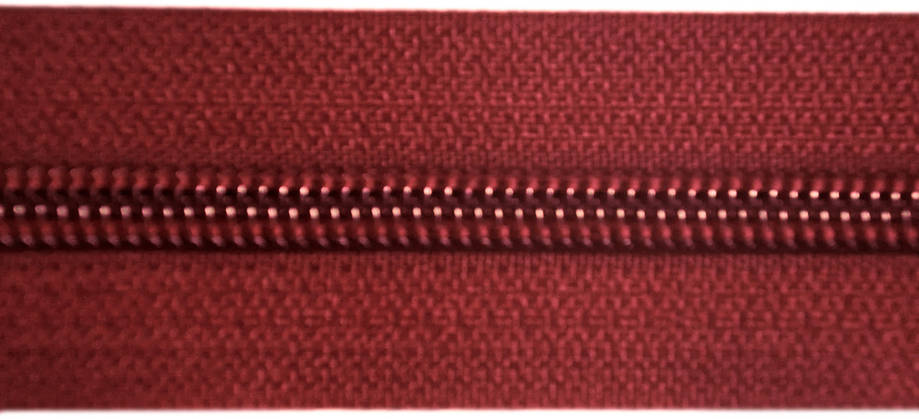 Молния лента (метражка) Баришевка №5 (6) цвет бордовый, фото 2