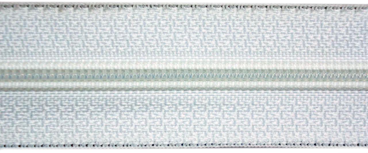 Молния лента (метражка)  №7 (10), цвет белый