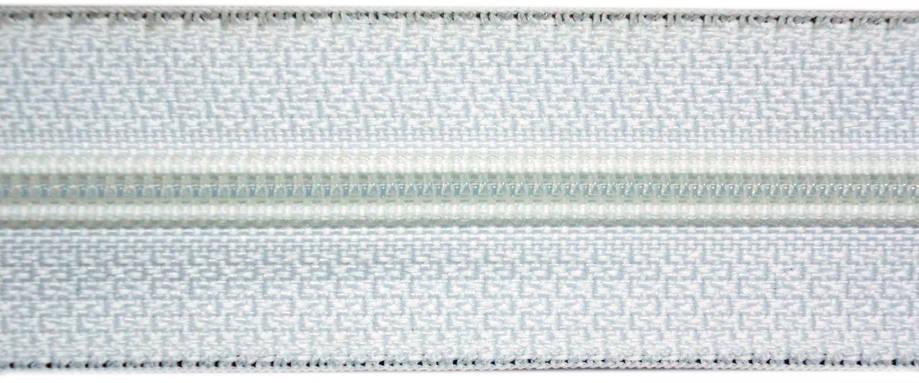 Молния лента (метражка)  №7 (10), цвет белый, фото 2