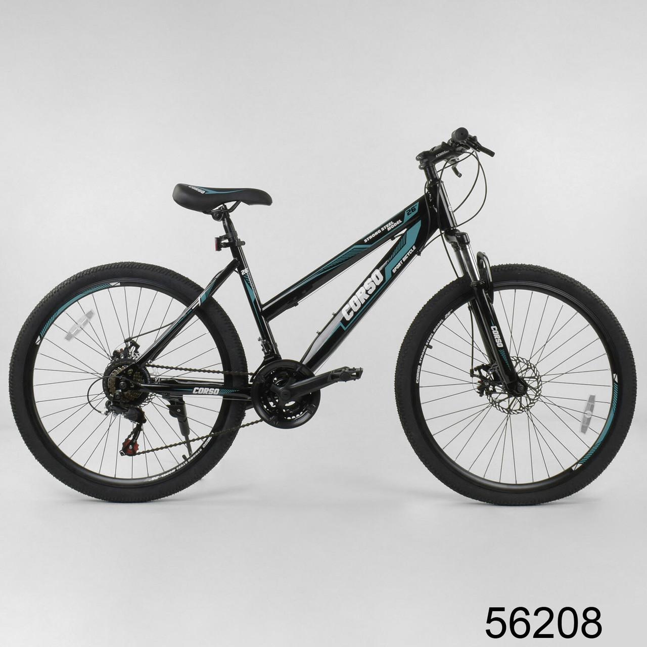 Велосипед спортивний гірський Corso Strong Steel 26 дюймів