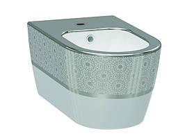 Alfa Биде белый/декор серебро 3106-2605-1201 IDEVIT