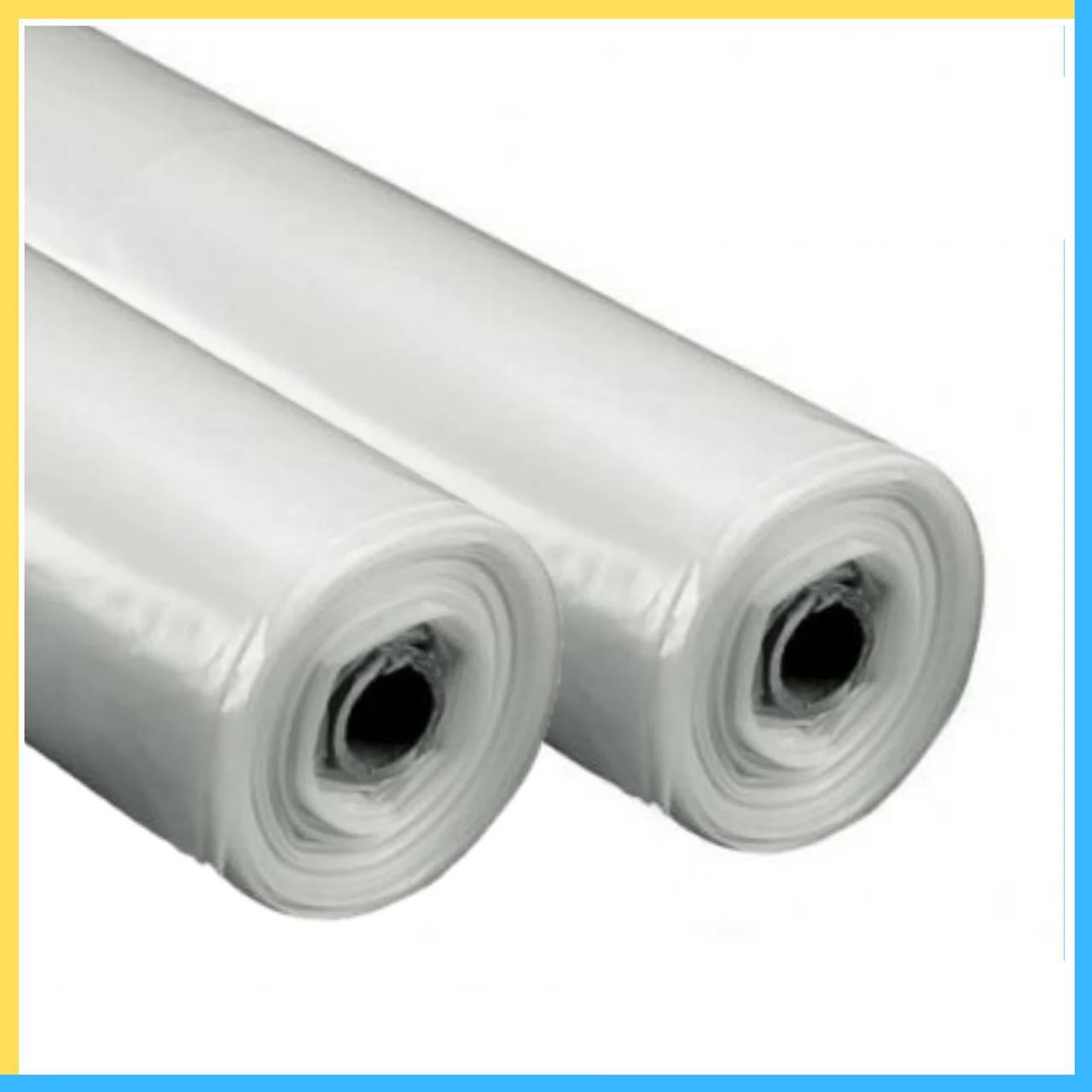 Пленка белая 80 мкм (3м*100 м.) прозрачная, полиэтиленовая
