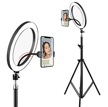Селфи кільце Selfie Ring Light Кільцева лампа ZD666, світлодіодна кільцева лампа, діаметр 26 см