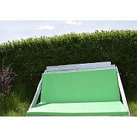 Подушка для дивана из поддонов салатовая