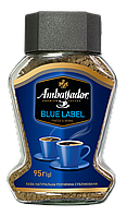 Кофе Амбассадор растворимый Blue Label 95 грамм в стеклянной банке