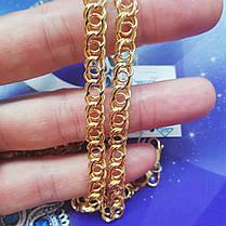 Серебряная позолоченная цепочка, 450мм, плетение Арабский бисмарк, 22 грамма, фото 3