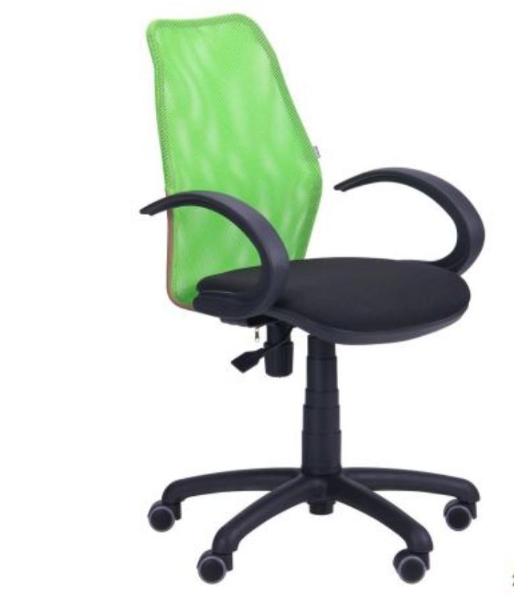 Крісло комп'ютерне - Oxi/АМФ-5 сидіння А-01/спинка Сітка салатова