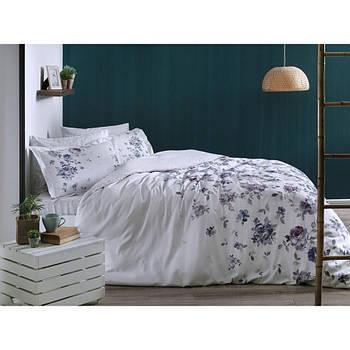Постельное белье Tac сатин - Zaira lila v52 лиловый евро