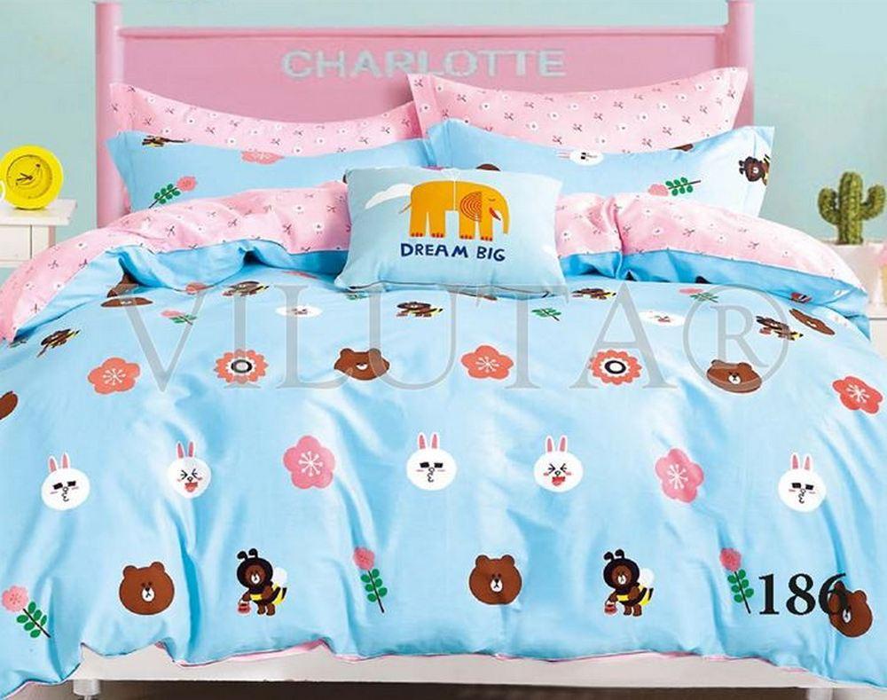 Комплект постельного белья для детской кроватки Viluta Сатин Твил 186