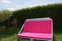 Подушка матрасик  для дивана кресла  из поддонов  паллеты фуксия розовый