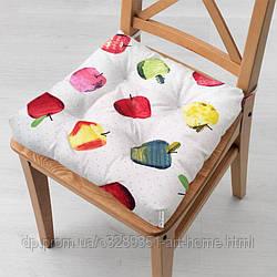 Подушка на стул 40x40 см Яблочки