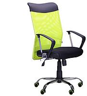 Кресло компьютерное- АЭРО HB Line Color сиденье Сетка чёрная,Неаполь N-20/спинка Сетка салатовая, вст.Не