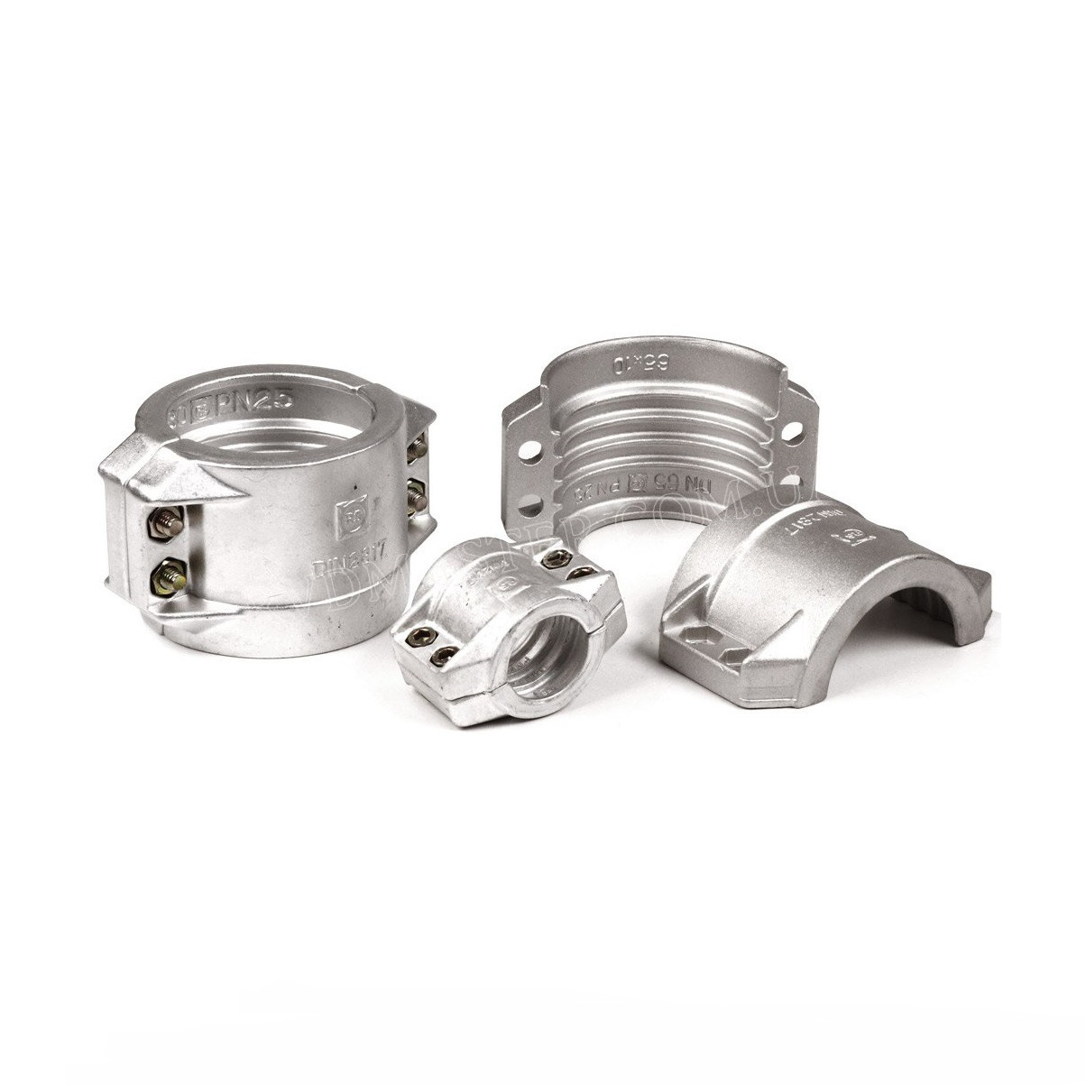 Обойма скорлупчатая, алюминиевая 58-61мм DIN 2817 (рукав 50х5)