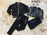 Трикотажный костюм-двойка для девочек оптом, F&D, 4-12 лет, арт. S-6023