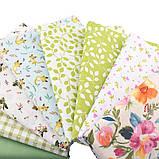 Набор ткани для рукоделия  с цветочным принтом - 8 отрезов 40*50 см, фото 3