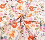Набор ткани для рукоделия  с цветочным принтом - 8 отрезов 40*50 см, фото 4