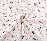 Набор ткани для рукоделия  с цветочным принтом - 8 отрезов 40*50 см, фото 5