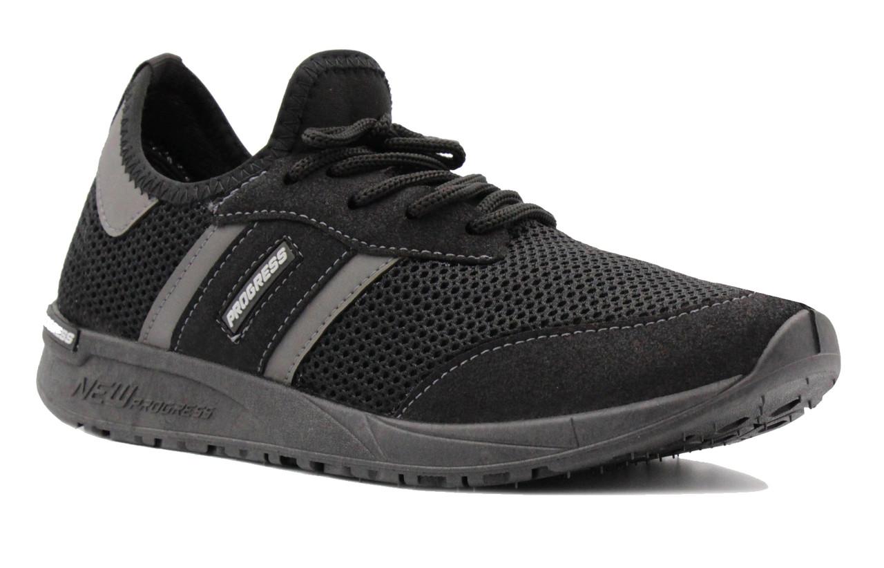 Мужские кроссовки из вентилируемой сетки черные BR-S 43 р. 27 см (1188637584)