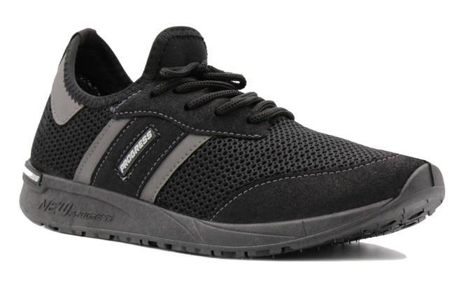 Мужские кроссовки из вентилируемой сетки черные BR-S 44 р. 27,5 см (1188637584), фото 2