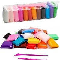Легкий воздушный пластилин липака набор 12 цветов по 10 грам со стеками, пластилин моделин