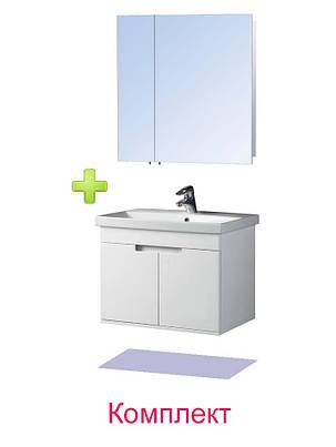 Комплект мебели - Тумба с умывальником Смарт 70 и Зеркальный шкаф ЗШ-70, фото 2