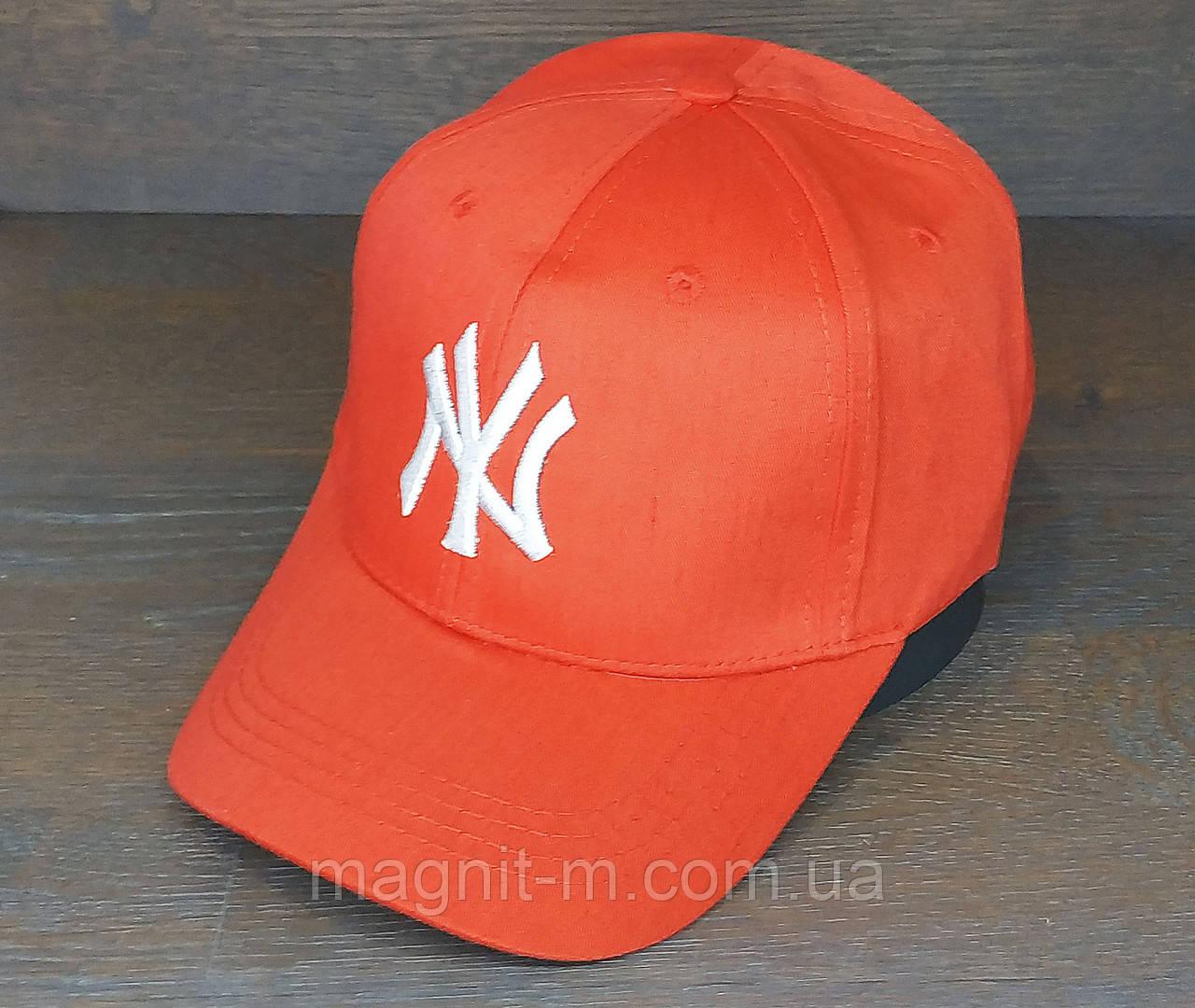 """Бейсболка """"Янкис"""". Красный цвет. Застежка-липучка. (Розница)"""