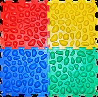 Детский ортопедический коврик пазл , с эффектом морской гальки Пазлы 4 элемента