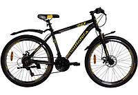 """Велосипед VNC 26"""" MontRider A3 26A3-45-BY M/17.5"""" Черный с желтым (19262303)"""