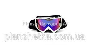 Кросові окуляри 634 motokross білі, фото 2