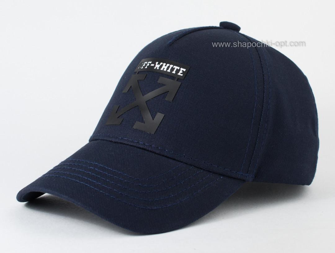 Стильная детская кепка Off White темно-синяя