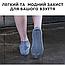 Силиконовые чехлы-бахилы от дождя и грязи на обувь водонепроницаемые M (размер 36-40) цвет серый, фото 4