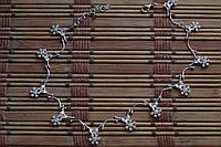 Индийский браслет на ногу к кристаллами Сваровски , родирование