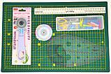 Набор для пэчворка и квилтинга Базовый 11 ед А3 мат Инструменты для творчества и шитья Шитье Рукоделие, фото 3