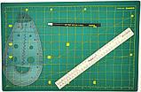Набор для пэчворка и квилтинга Базовый 11 ед А3 мат Инструменты для творчества и шитья Шитье Рукоделие, фото 4