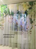 Фото Шторы Орхидеи. Материал Вуаль. 2 не сшиты полотна